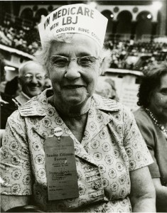 Senior citizen at Democratic National Convention