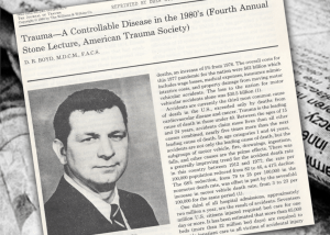Headline and text of the reprint with a portrait of Dr. Boyd.