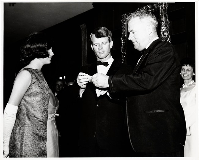 John E. Fogarty with his daughter Mary, and Attorney General Robert F. Kennedy, 1965