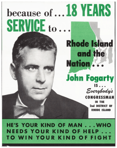 A two color campaign advertisement.
