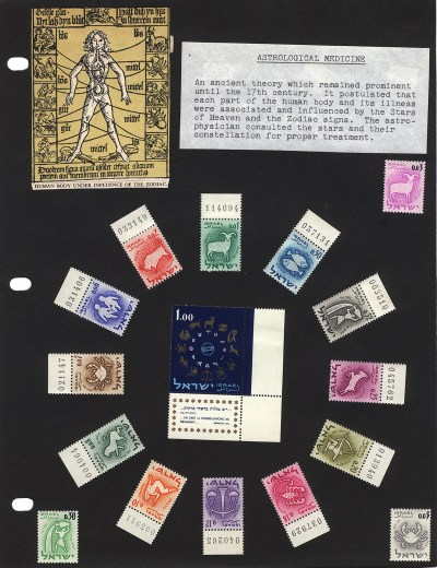 Stamp page from the collection of Adolf Schwartz.