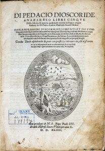 Italian title text and an oval illustraton of men working in a field and swarms of bees coming from a hive in a tree stump.