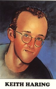Illustration of Keith Haring.