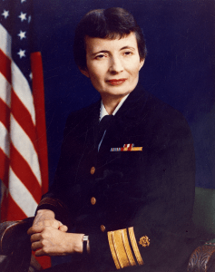 Faye Abdellah in uniform.