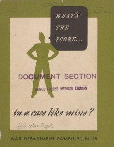 Cover of a medical information pamphlet.