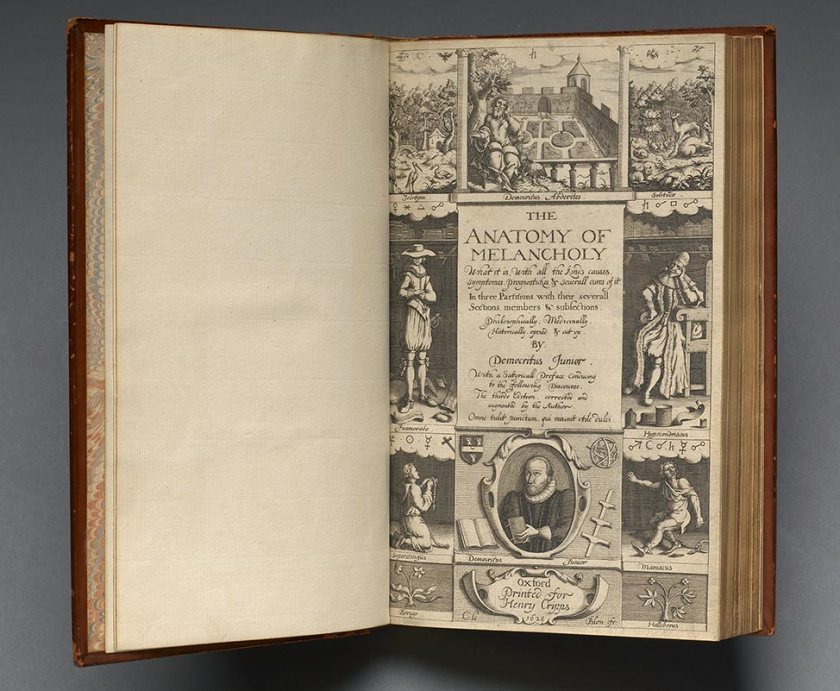 A book open to the illustrated frontispiece