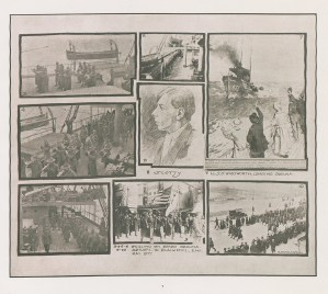 A collage of photographs of scenes on board the S. S. Orduna