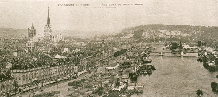 Views of Rouen showing the dock where the Americans arrived.