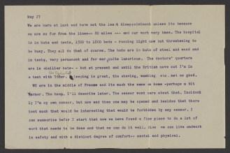 A typwritten journal page dated May 27.