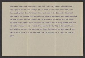 Blankenhorn letter from the S. S. Orduna