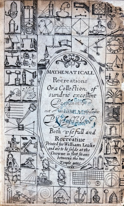 Title page with a grid of small illustrations surrounding the text.