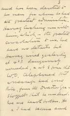 A handwritten letter on stationary.