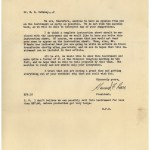 A typewritten letter on A.S. Aloe Company letterhead seeing DeBakey's approval of the finished product and making plans for marketing and sales.