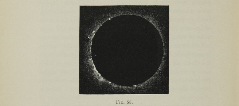 Photograph taken during the solar eclipse in Spain in 1860.