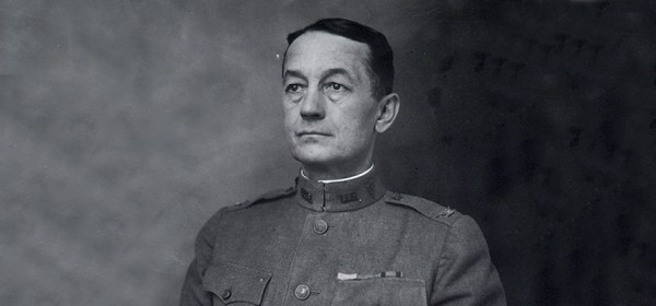 Portrait of Paul Frederick Straub in uniform.