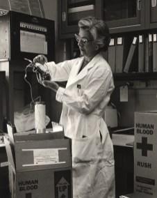 Laboratory Technician Handles Human Blood Sample