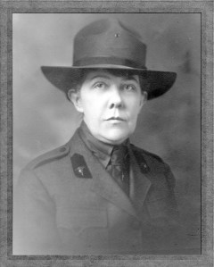 Black and white photograph of Loy McAfee, head and shoulders, full face, in uniform and hat.