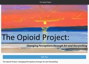 Screenshot from The Opiod Project: Changing Perceptions through Art and Stroytelling website.