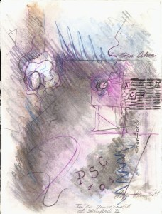 Abstract artwork with cell and genetic elements and the name Dr. Stan Cohen.