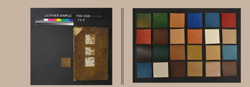 Photogaphs of old and new leather in many colors.