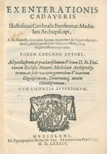 Title page featuring a coat of arms.