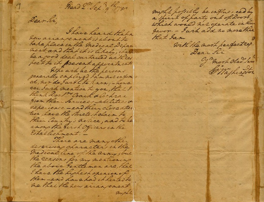The front and back of a handwritten letter.