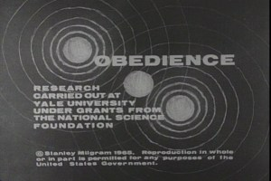 Title screen of the film Obedience.