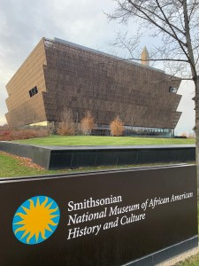 The NMAAHC building.