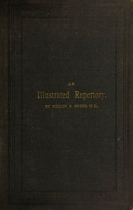 Embossed cover of An Illustrated Repertory by Rollin R. Gregg, MD.