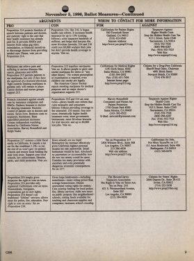 November 5, 1996 Ballot Measures 214-218 continued.