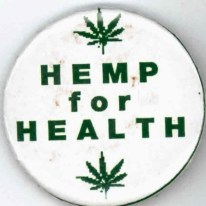Button reads Hemp for Health.