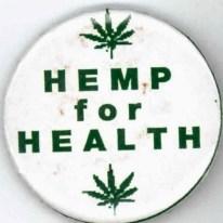 Button reads Hemp for Health.