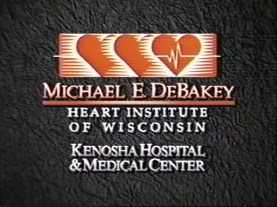 Promotional Video logo for the Michael E. DeBakey Heart Institute of Wisconsin Kenosha Hospital & Medical Center.