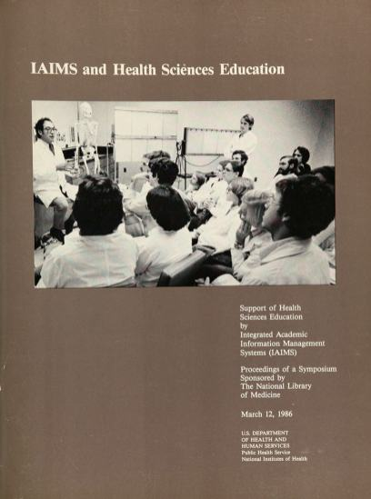 Cover of a report illustrated with a photograph of an anatomy lecture.