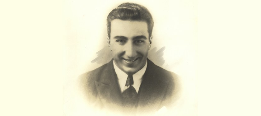 A formal portrat of a young Michael DeBakey