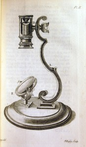 Drawing of a rudimentary pocket microscope