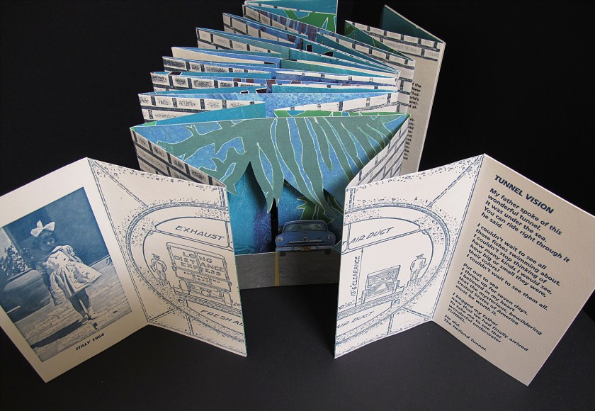 """Image of artist book, """"Tunnel Vision"""""""