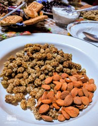 Dried mulberry and apricot kernels! The perfect companion for tea.