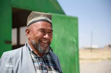 Great Tajik shop owner along the road.