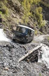 Crossing waterfalls (Georgia)