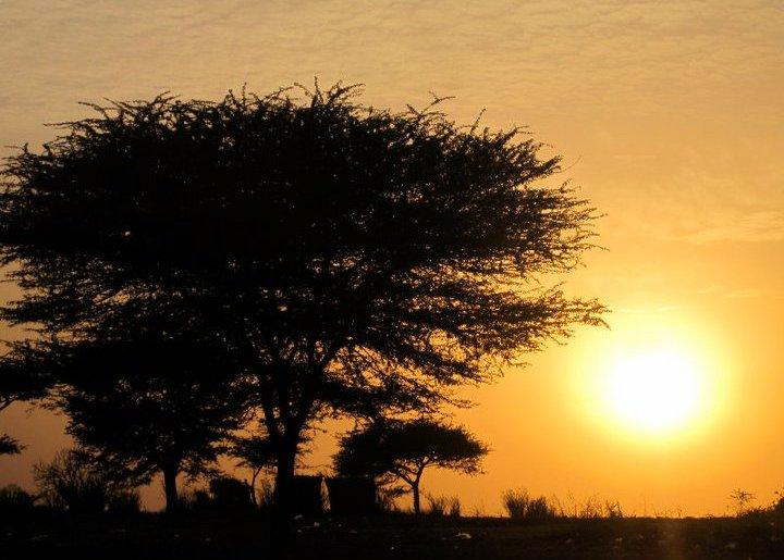 Sunset in Louga, Senegal
