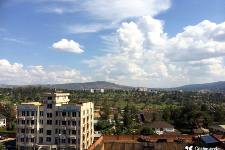 A view of Kigali's business district. Rwanda's capital.