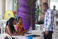 Volunteers from Ashesi University at She Hive Accra / Photo Credit: SLA
