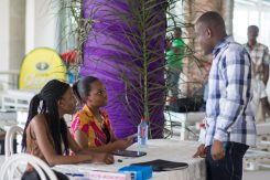 Volunteers from Ashesi University at She Hive Accra / Photo Credit: SLA