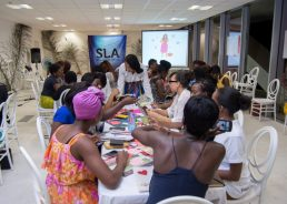Nicole Updegraff's Vision Boarding session / Photo Credit: She Leads Africa
