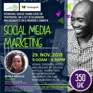 Social Media Marketing workshop with Jemila