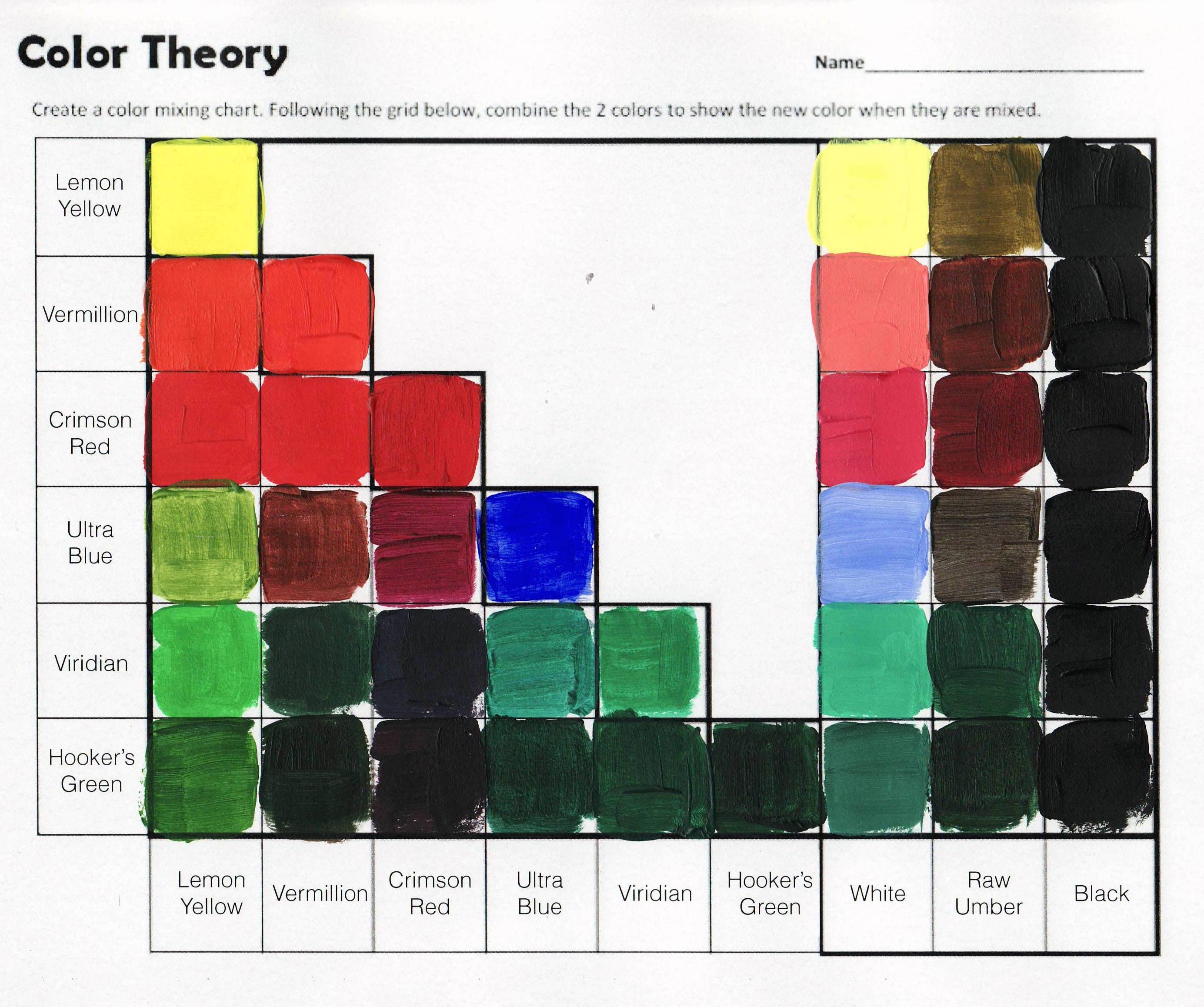 Color Theory Worksheet Circumvoluted