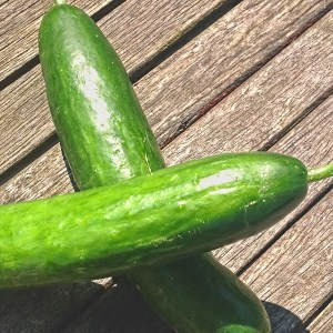 two cucumber
