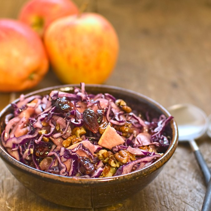 winter-salad-red-cabbage-apple-and-cranberry