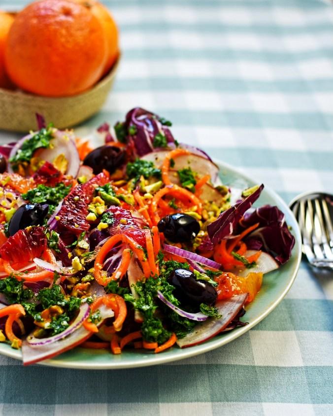 Sicilian radicchio and blood orange salad